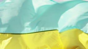 Ukrainische Flagge stock video