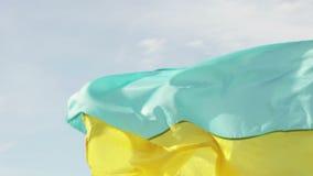 Ukrainische Flagge stock video footage