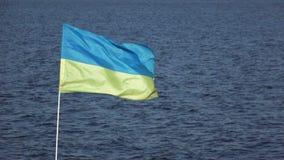 Ukrainische Flagge stock footage