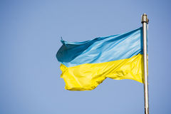 Ukrainische Flagge Stockfotos