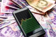 Ukrainische Geldabwertung Lizenzfreies Stockbild