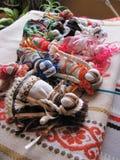 Ukrainische handgemachte Volkspuppe Stockbilder