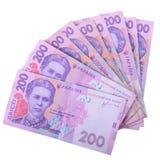 Ukrainische hryvnia Währung Lizenzfreie Stockbilder
