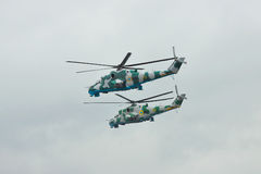 Ukrainische Hubschrauber der Armee Mi-24 Stockfoto