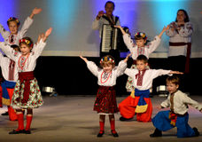 Ukrainische Jugend-Tänzer Stockbild