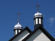 Ukrainische katholische Kirche gegen einen blauen Himmel Stockfotos