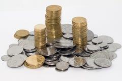 Ukrainische kleine Münzen Stockfotos