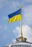 Ukrainische Markierungsfahne Stockbild