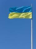 Ukrainische Markierungsfahne Stockbilder