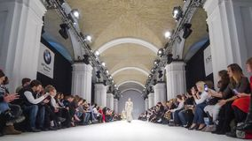 Ukrainische Mode-Woche FW18-19: Sammlung durch BENDUS stock footage
