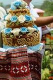 Ukrainische nationale traditionelle Heiratsbraut für Bräute stockbild