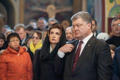 Ukrainische Politiker ehren Gedächtnis von getöteten EuroMaidan-Aktivisten Stockbilder