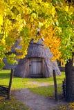 Ukrainische Region Polesie Dorfbewohner des Yard Lizenzfreies Stockbild