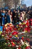 Ukrainische Revolution, Euromaidan nach einem Angriff durch Regierung f Stockbild