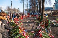 Ukrainische Revolution, Euromaidan nach einem Angriff durch Regierung f Stockfoto