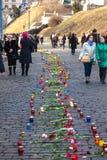 Ukrainische Revolution, Euromaidan nach einem Angriff durch Regierung f Lizenzfreie Stockfotos