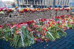 Ukrainische Revolution, Euromaidan nach einem Angriff durch Regierung f Stockfotografie