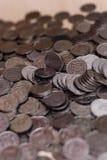 Ukrainische Silbermünzen Pyramide des Geldes Lizenzfreie Stockfotografie