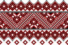 Ukrainische Stickerei ethnisch vektor abbildung