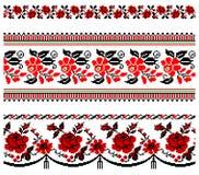 Ukrainische Stickereiverzierung Stockfotos