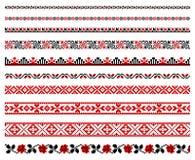 Ukrainische Stickereiverzierung Stockfoto