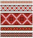 Ukrainische Stickereiverzierung Stockbilder