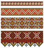 Ukrainische Stickereiverzierung Lizenzfreie Stockfotos