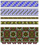 Ukrainische Stickereiverzierung Stockfotografie