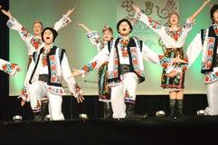 Ukrainische Tänzer-Münder öffnen sich lizenzfreie stockfotografie