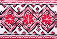 Ukrainische traditionelle Stickereimuster stockbild