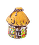 Ukrainische traditionelle Tonwarenkeramik mit Text Lizenzfreie Stockfotografie