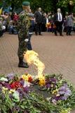 Ukrainische Veterane des großen patriotischen Kriegs-Sieg-Tages Lizenzfreie Stockfotos