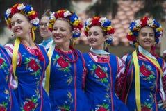 Ukrainische Volkstänzer stockfotos