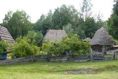 Ukrainischer alter Bauernhof in Pirogovo Stockfotos