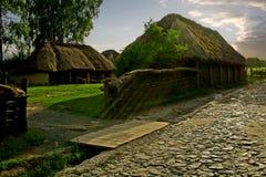 Ukrainischer Bauernhof des alten Landes Stockfoto