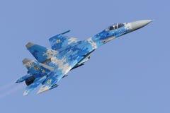 Ukrainischer Flanker Su-27 Stockfotos