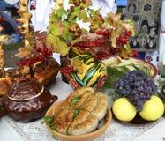 Ukrainischer Küchentisch Lizenzfreies Stockbild