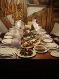 Ukrainisches Abendessen Lizenzfreie Stockbilder