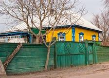 Ukrainisches authentisches Dorfhaus Stockbilder