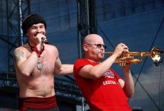 Ukrainisches Band Haydamaky in Linz Lizenzfreie Stockbilder