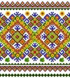 Ukrainisches nationales traditionelles Hemdmuster Stockfotografie