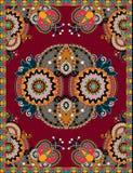 Ukrainisches orientalisches dekoratives Teppich-mit BlumenDesign Stockfoto