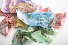 Ukrainisches Währung hryvnia Lizenzfreie Stockbilder