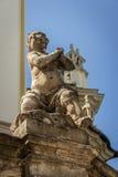 Ukrainne, Lviv,在教会的雕塑 库存图片