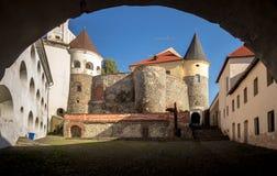 Ukrainne, Mukacheve,中世纪城堡 免版税库存照片
