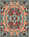 Ukrainsk blom- mattdesign för tryck på kanfas Arkivbilder