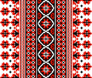 Ukrainsk blom- prydnad Arkivfoton