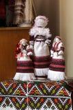 Ukrainsk dockamotanka handgjorda dockor royaltyfria bilder
