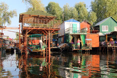 Ukrainsk fiskareby arkivbild