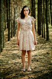 Ukrainsk flicka i skogen Royaltyfri Bild